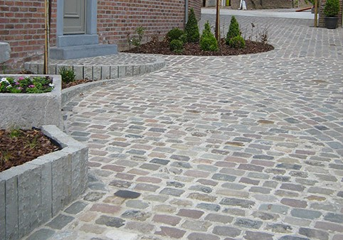 Pavage dallage all es ext rieures terrasses parkings brabant wallon loix sprl - Faire une terrasse en pave ...