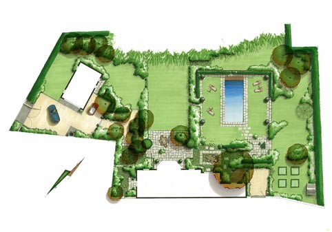 Avant projet plan cr ation am nagement jardin brabant for Plan amenagement jardin